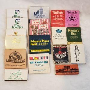 Vintage matchbooks Bundle - Matches 60s 70s 80s